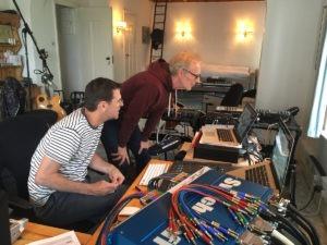 Stacy Parrish-Daniel Masson-Recordings sessions at Jack Casady studio