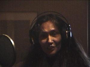 Bibi Russel at Daniel Masson recordings studio